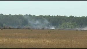 Brush fire near Bolsover under control