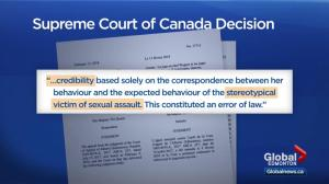 Supreme Court rules Edmonton judge used stereotypes of sexual assault victims in acquittal decision