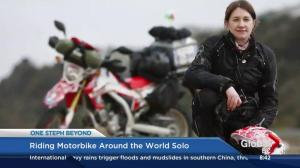 Dream motorcycle adventure trip comes true for U.K. woman travelling around the world
