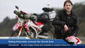 Dream motorcycle adventure trip comes true for U.K. woman travelling around the world (04:41)