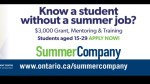 Qualifying Kingston students will receive money for their own summer jobs