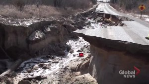 Trenear Road collapses in Cramahe Township