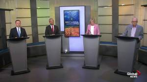 Pipeline debate continues during Alberta leaders debate (04:24)