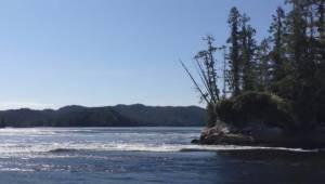 Nakwakto rapids in Port Hardy