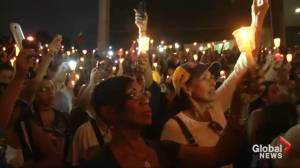 Thousands turn out for candlelight vigil in protest of Venezuelan President Nicolas Maduro