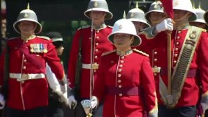 Canadian becomes 1st woman to lead Buckingham Palace Changing of the Guard