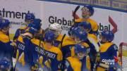 Play video: Saskatoon Blades bare their teeth in 3-2 win over Prince Albert Raiders