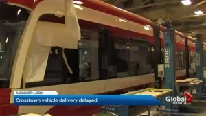 Vehicle delivery for Eglinton Crosstown LRT delayed