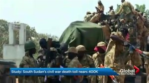 South Soudan's civil war death toll nears 400 K