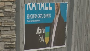 Alberta election signs targeted by vandals