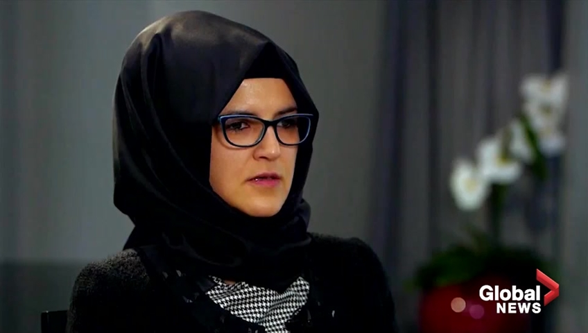 Claims Khashoggi's body was 'dissolved' as fiancee speaks out
