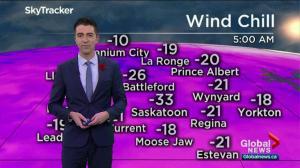 Saskatoon weather outlook: -20 to -30 wind chills return