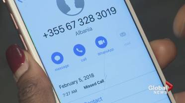 Mysterious missed calls on cellphones part of worldwide scam