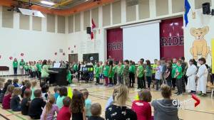 Lethbridge elementary school hosts Green Shirt Day assembly