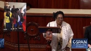 Congresswoman takes knee on House floor after ripping Trump over NFL remarks