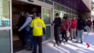 People line up in Halifax to buy first legal cannabis