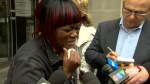 Mother of 2 of 3 men convicted of 1st-degree murder in 2016 'Pizza Pizza' shooting speaks outside court