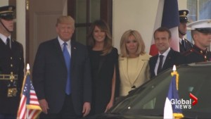 Trump hosts Macron in first official state visit