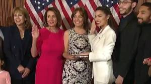 Alexandria Ocasio-Cortez, youngest women ever to be elected to Congress, sworn in