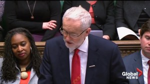 Jeremy Corbyn criticizes Theresa May over scrapped ferry contract
