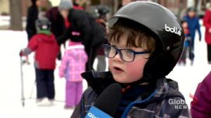 Winter recreationists take advantage of temporary warm-up in Saskatoon