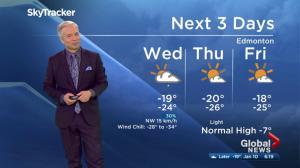 Edmonton's morning weather forecast: Jan. 10