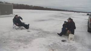 Fishers told to get off the ice