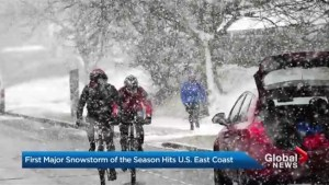 First major snowstorm hits east coast