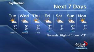 Global Edmonton weather forecast Dec. 11
