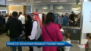 Partial U.S. government shutdown affecting Canadian travellers
