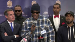 Rap superstars Snoop Dogg, The Game talk recent shootings at police press conference