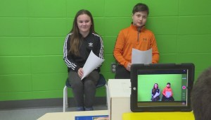 Montreal elementary school hosts Olympics sportscast