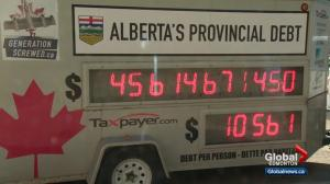 Debt clock brings attention to Alberta's finances