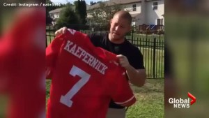 49ers fans burn Colin Kaepernick jerseys in anger after QB refuses to stand during national anthem
