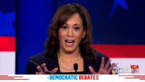 Democratic debate: Kamela Harris says Americans don't want a 'food fight'