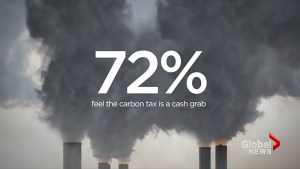 72 % of people in Ontario believe the carbon tax is a cash grab
