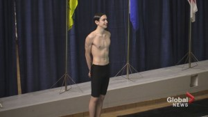 16-year-old Yukon boy breaking barriers in synchronized swimming