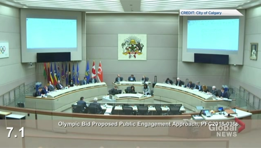 Calgary's city council votes to continue work on bid for 2026 Olympics