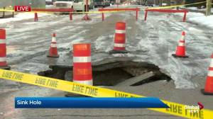 Crescent Heights sink hole causes northwest road closure