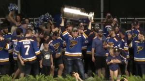 St Louis Blues celebrate Cup win with 'Gloria'