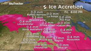 Special weather statement across Sask. for freezing rain