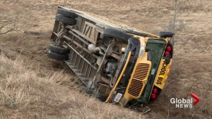School bus driver facing charges after bus rolls over north of Port Hope