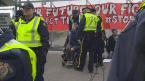 Woman in wheelchair arrested at Kinder Morgan site in Burnaby