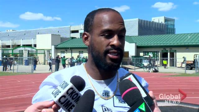 Scenery change pushes Roughriders receiver's recovery effort into overdrive