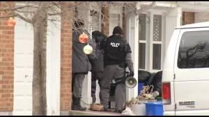 Heavy police presence on Peterborough street