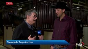 Kurt Bensmiller discusses Calgary Stampede Chuckwagon canvas auction