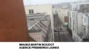 Paris gun shots caught on camera