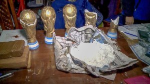 Authorities in Argentina confiscate fake World Cup trophies made of cocaine