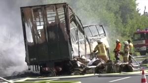 Many feared dead in German bus crash
