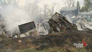 Fire in town of Francis destroys several homes